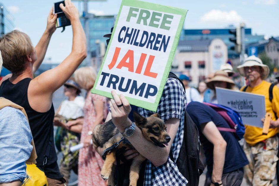 Helsinkyje – protestai prieš D. Trumpą ir V. Putiną