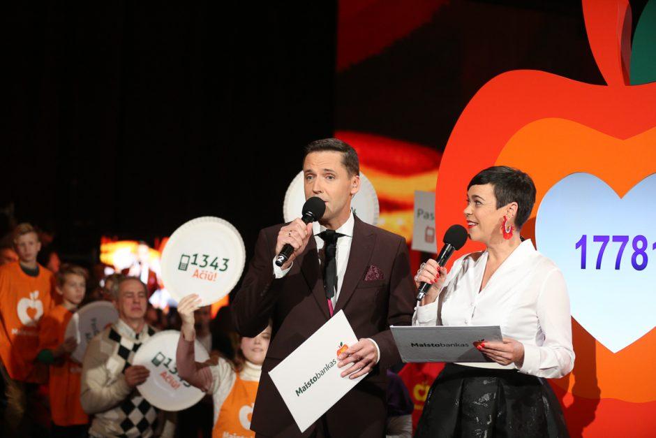 """Lietuvos geraširdžiai """"Maisto bankui"""" paaukojo rekordinę sumą"""