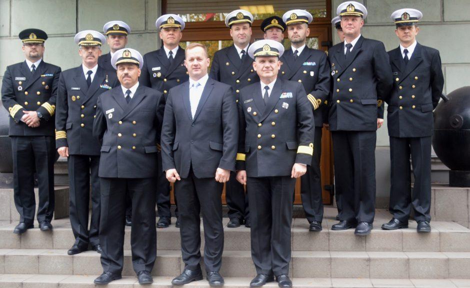 Klaipėdoje susitiko trijų Baltijos šalių Karinių jūrų pajėgų vadai