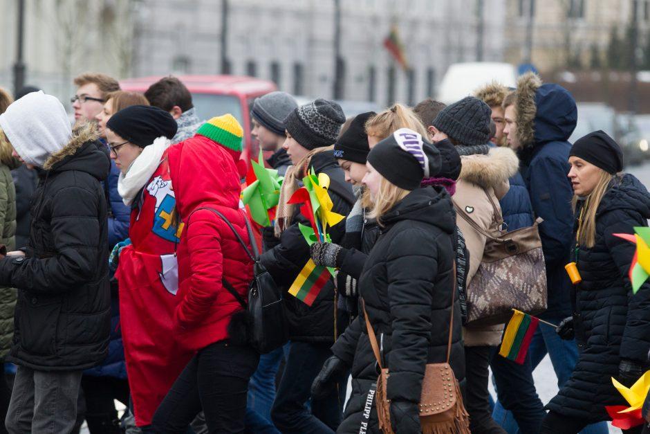 Jaunimo šventinės eitynės Vilniaus gatvėmis