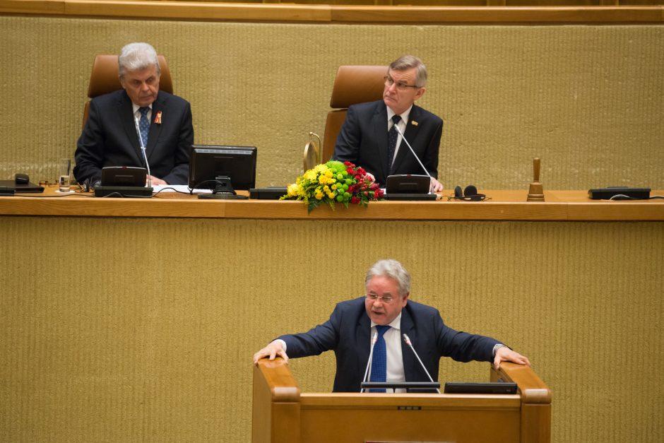 Iškilmingas Kovo 11-osios minėjimas Seime
