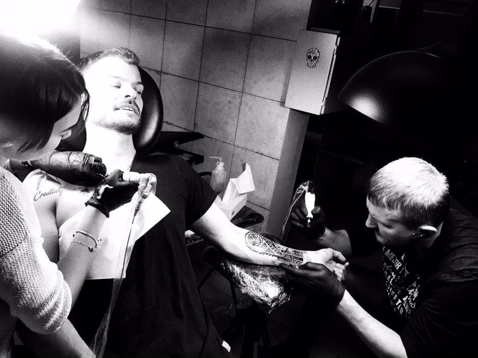 M. Rainio kūną papuošė dvi naujos tatuiruotės