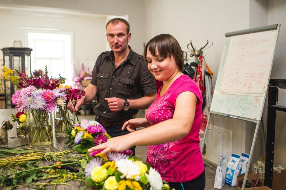 Šiluvos atlaidus papuoš floristikos meistrų kūriniai