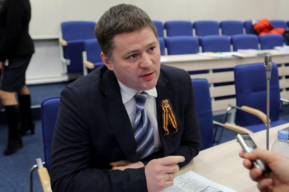 V. Titovas komisijos posėdyje neužsibuvo