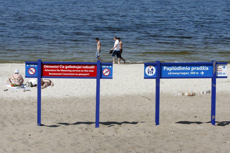 Nuogales paplūdimyje išvaikys šunys?
