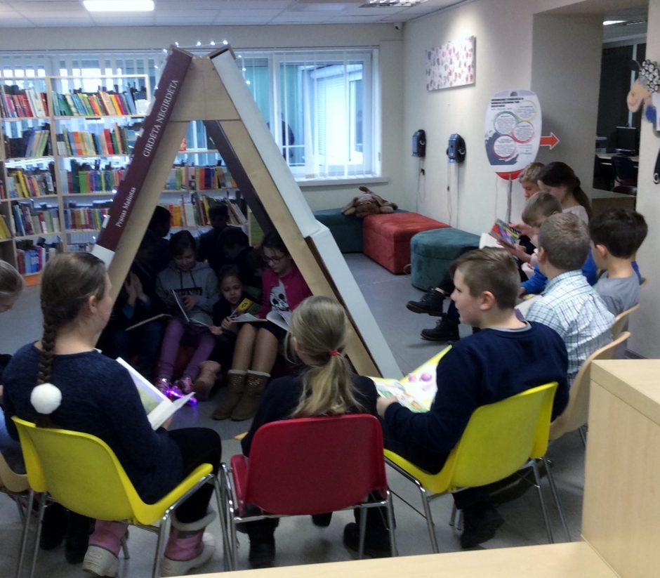 Dovanojo skaitymų namelį vaikams