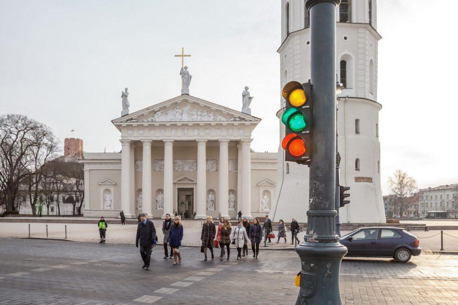 Kovo 11-ąją Vilniaus šviesoforai įjungė trispalvę