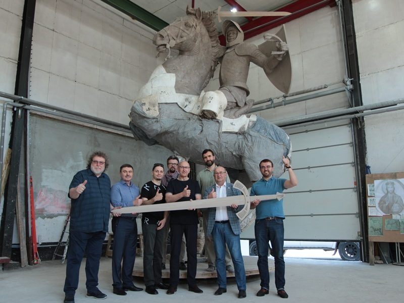 Iš Kijevo grįžęs V. Matijošaitis: Vytis bus galingiausia skulptūra Lietuvoje