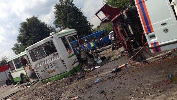 Pamaskvyje per didelį automobilių susidūrimą žuvo 18 žmonių