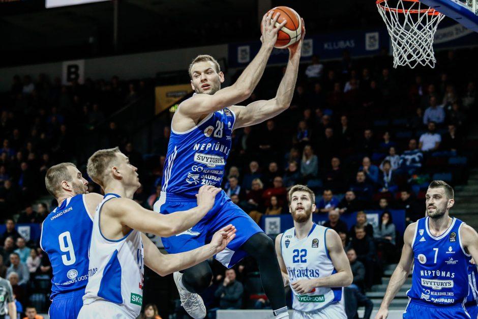 """""""Neptūno"""" krepšininkai LKL čempionate nugalėjo """"Vytautą"""""""