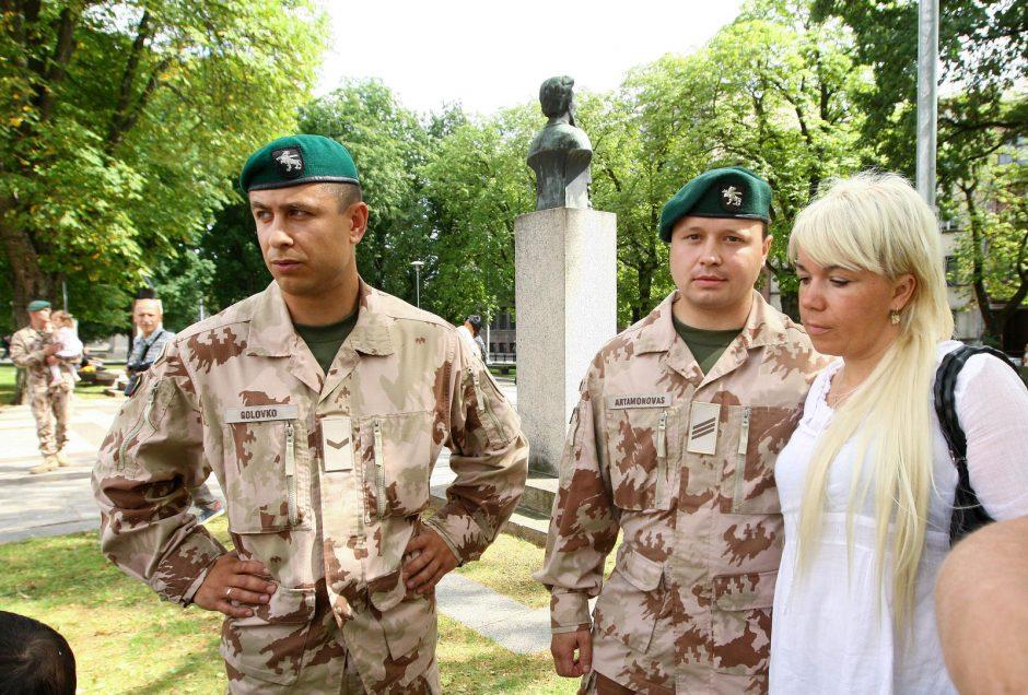 Į misiją Somalyje Lietuvos kariai išlydėti iš Kauno