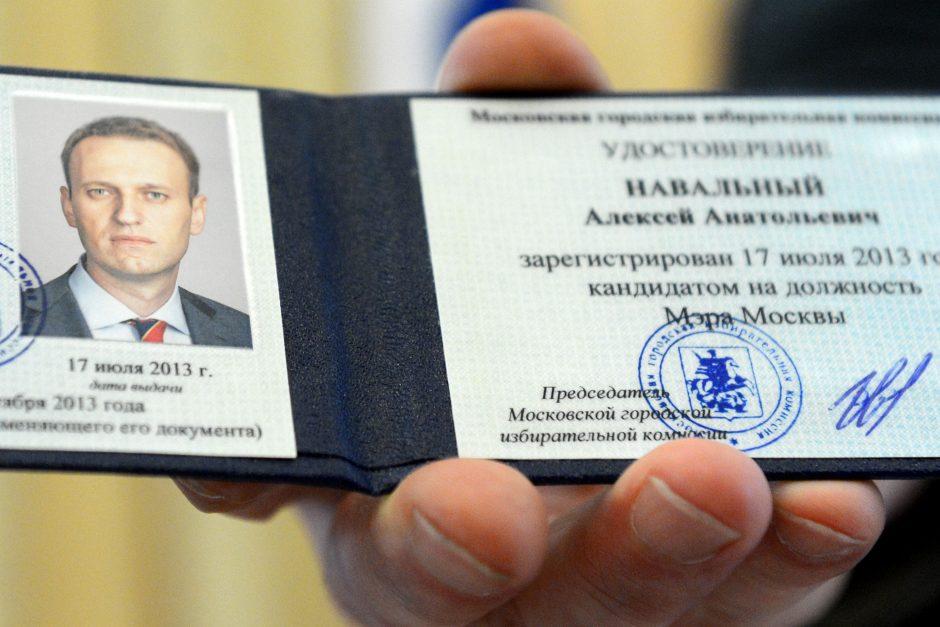 Rusijos protestų lyderis A. Navalnas įregistruotas kandidatu į Maskvos mero postą