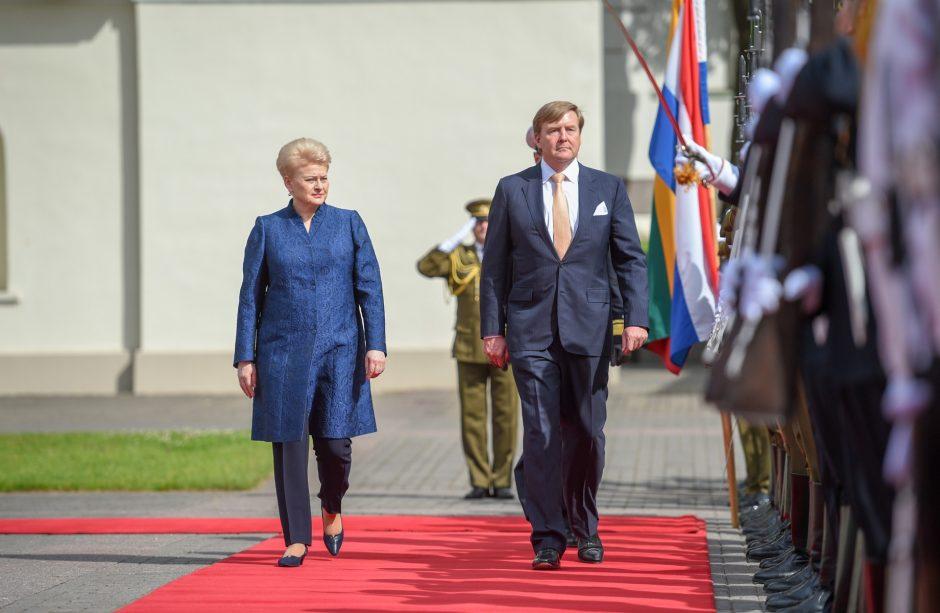 Prezidentė dėkoja Nyderlandų karaliui už paramą Lietuvai saugumo, energetikos srityse