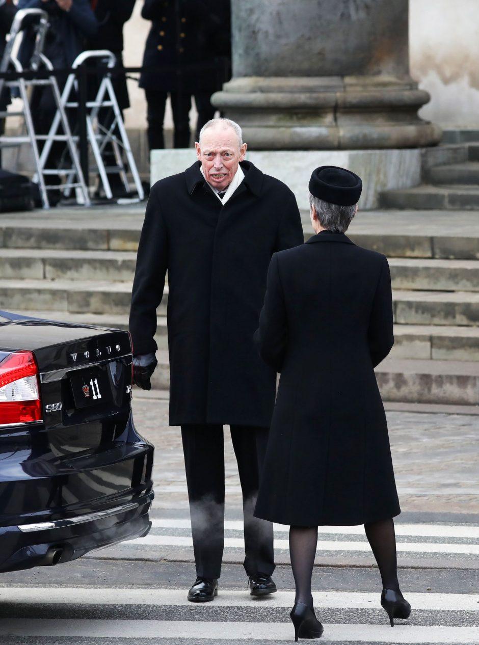 Danijos karališkoji šeima atsisveikino su velioniu princu Henriku
