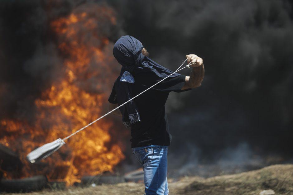 JAV ambasados Jeruzalėje atidarymą lydėjo kruviniausi susirėmimai per kelerius metus