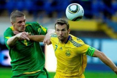 Futbolas: Lietuva – Ukraina 0:4