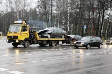 Per avariją nukentėjo vairuotojai