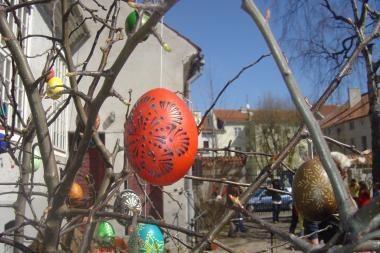 Atvelykis: kiaušinių ridenimui Klaipėdoje prireiks net kopėčių