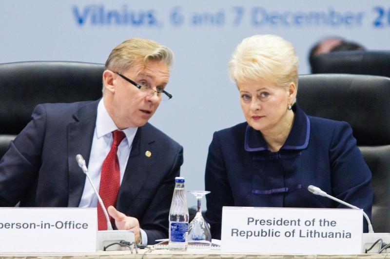 Prezidentė: ESBO dėka pasiekta pažanga sprendžiant konfliktus