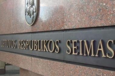Parlamentas iš naujo svarstys Prezidentės vetuotas pataisas