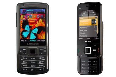 "Testas: telefonai ""Nokia N85"" ir ""Samsung i7110"""