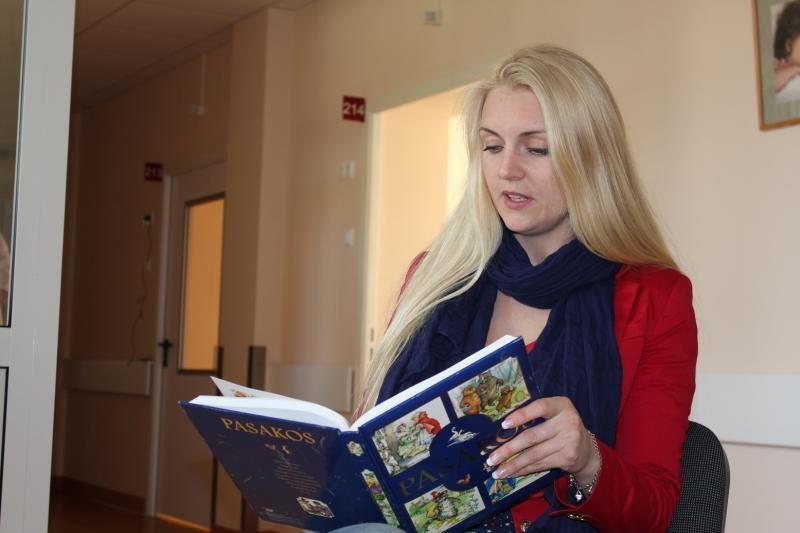 R.Ščiogolevaitė ryšį su vaikais mezga ir per knygas