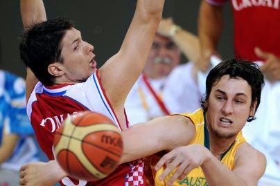Kroatai įveikė Australijos krepšininkus