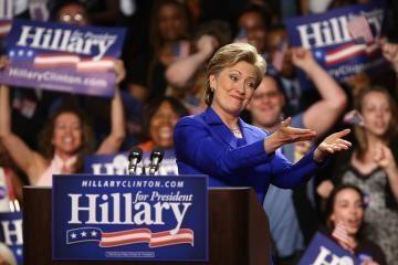 """H.Clinton žada """"tvirtą paramą"""