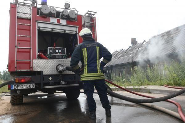 Šįryt gaisre žuvo vyras