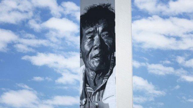 Sukurta aukščiausia Azijos        freska