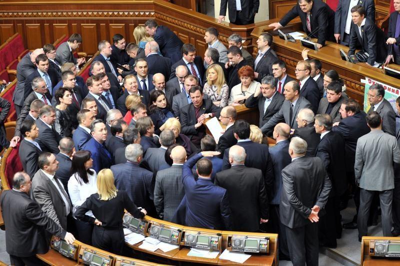 Ukrainos vyriausybė atlaikė balsavimą dėl nepasitikėjimo