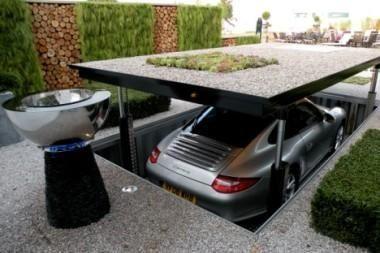 Modernūs požeminiai garažai Anglijoje