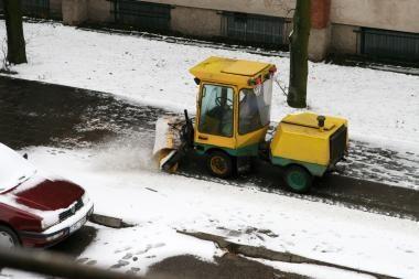 Pirmasis sniegas uostamiestyje įtampos nesukėlė