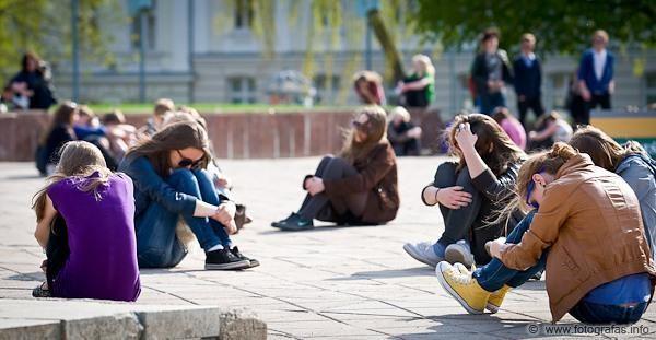 """Klaipėdos centre – """"flashmobas"""""""