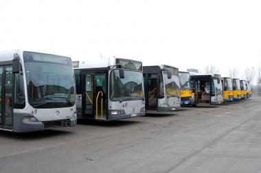 Į Vilniaus gatves išriedės mažiau autobusų ir troleibusų