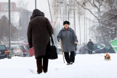 Orai Kaune: tai snigs, tai giedrysis, tai vėl snigs
