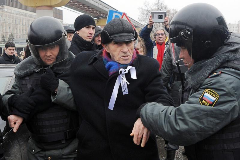 Per piketą prie Rusijos televizijos bokšto areštuota dešimtys žmonių