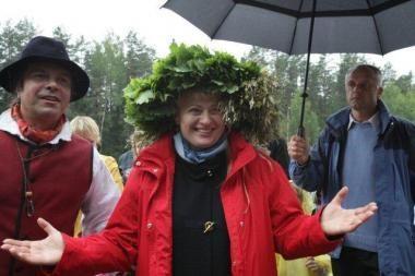 D.Grybauskaitė Jonines šventė Aukštaitijoje