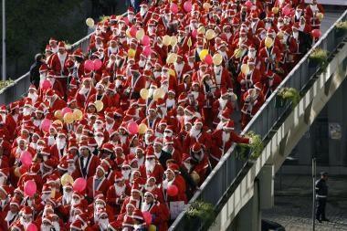 Kalėdų Seneliai pasiekė pasaulio rekordą