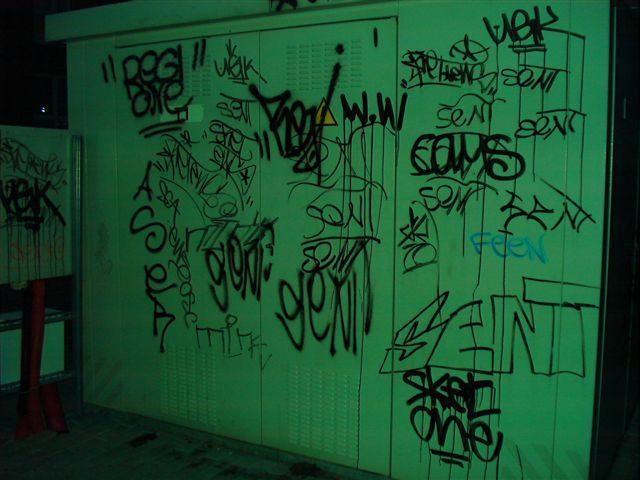 Klaipėdoje vandalai vėl terliojo namų sienas