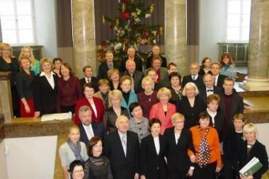 Rotušėje išdalinti M. Rostropovičiaus fondo apdovanojimai