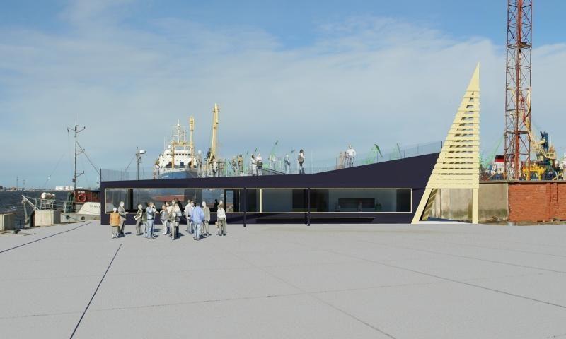 Po ginčų prasidėjo Smiltynės perkėlos keleivių salės statyba