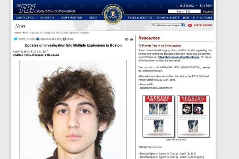 Bostono išpuolio įtariamasis sprukdamas nuo policijos pervažiavo brolį