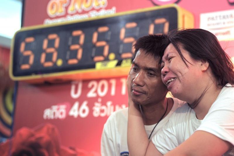 Tailande pora pasiekė ilgiausio bučinio pasaulyje rekordą