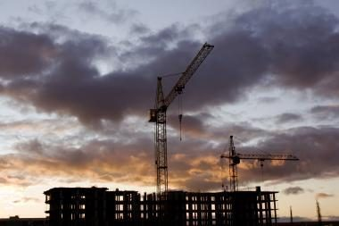 Statybos pabrango dar puse procento
