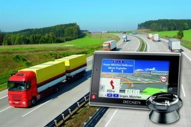 Specialios navigacijos sistemos apsaugos sunkvežimius nuo netikėtumų