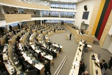 Neeilinė Seimo sesija truks vieną dieną