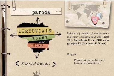 Parodoje - lietuvių išeivių istorija