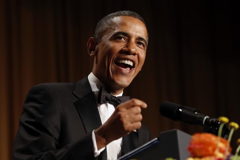 JAV prezidentas B. Obama susitiko su žurnalistais