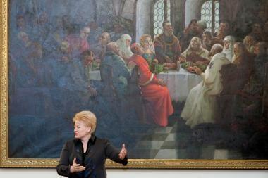 Dėmesys kultūrai tik švenčių proga, piktinasi prezidentė